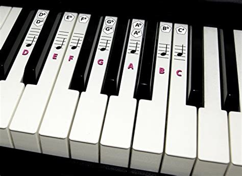 Piano Sticker Key And Keyboard Music Note Stickers