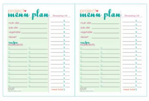 dinner party menu plan  printable tip junkie