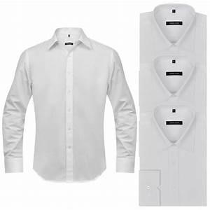 Solde Vetement De Travail : acheter 3 chemises de travail pour homme taille s blanc ~ Edinachiropracticcenter.com Idées de Décoration