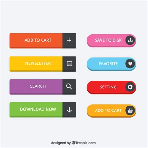button color html colored website buttons vector premium