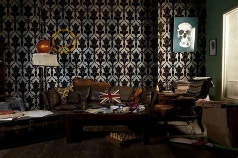 Sherlock Living Room Wallpaper by The Flat Interior Design Sherlock B Baker On The Is