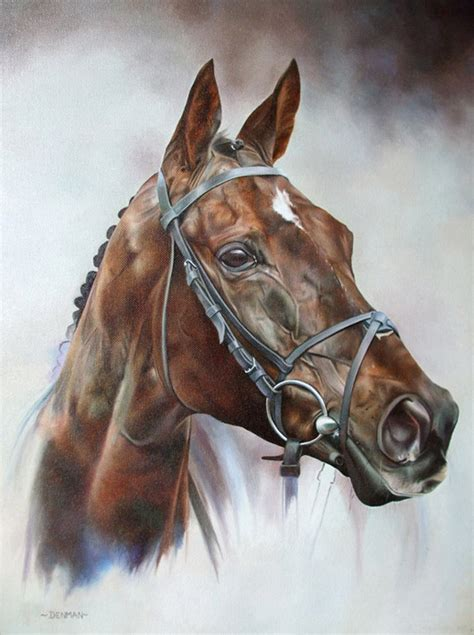 denman limited edition horse racing print  equestrian