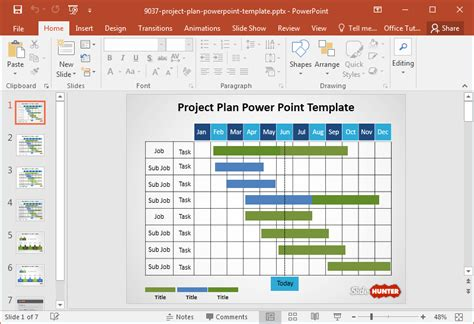 project plan template  powerpoint fppt