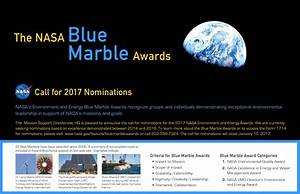 Blue Marble Awards | NASA