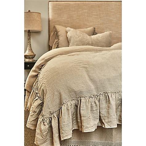 Amity Home Karina Ruffled Linen Duvet Cover   Bed Bath
