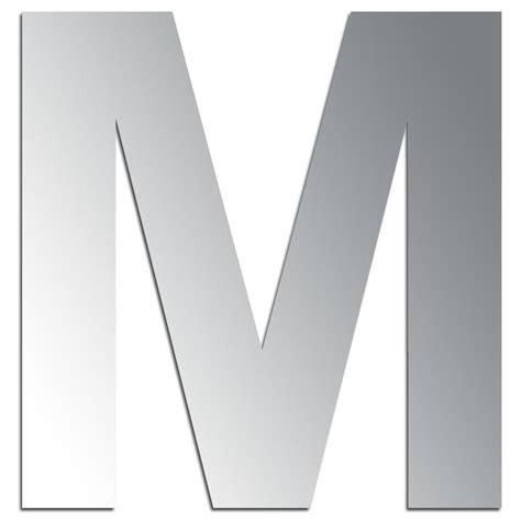 suspension design cuisine miroir adhésif lettre m majuscule 3 2 cm lettre miroir