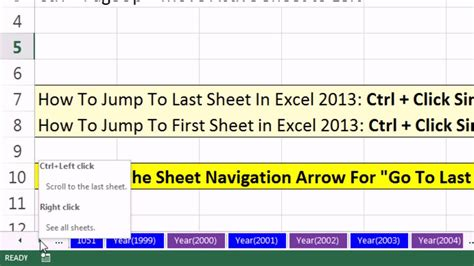 how to switch between tabs in excel 2013 how to move the