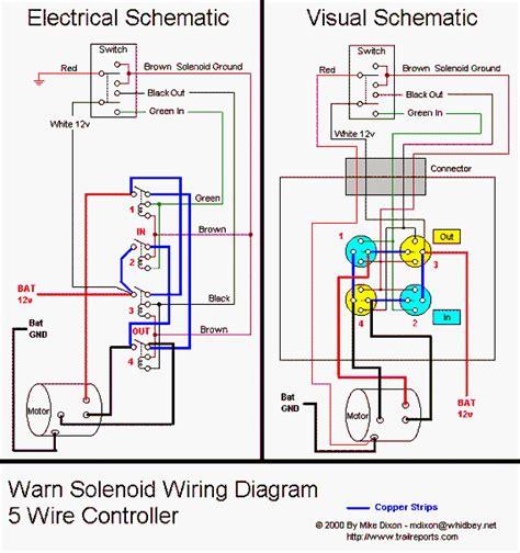 wiring diagram warn winch wiring diagram solenoid winch