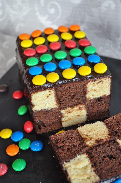 gateau d anniversaire herve cuisine gâteau damier facile sans moule spécial cuisine avec du chocolat ou thermomix mais pas
