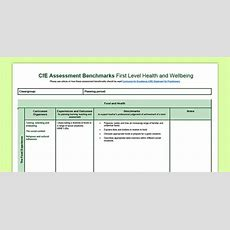 Cfe First Level Health And Wellbeing Benchmarks Assessment