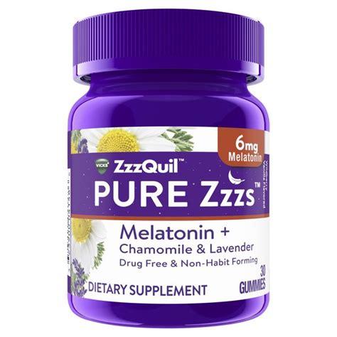 melatonin zzzquil vicks gummies pure zzzs sleep aid mg walmart ct