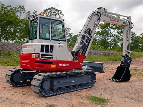 review takeuchi tbfr  swing excavator