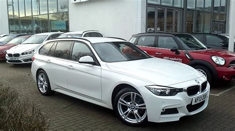bmw 320d touring bmw 320d xdrive m sport touring in alpine white
