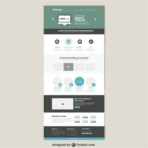 Simple Website Templates Simple Website Tlate Vector Free