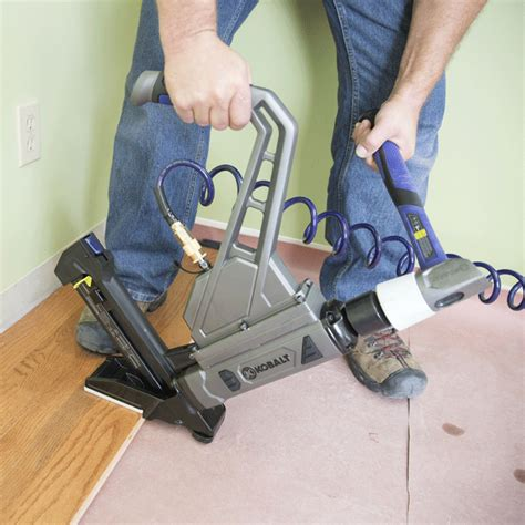 lowes flooring gun how to install a solid hardwood floor