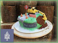Torte Bagger Caterpillar mit Anleitung Tutorial