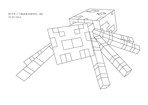 minecraft coloring pages spider  getcoloringscom  printable colorings pages  print