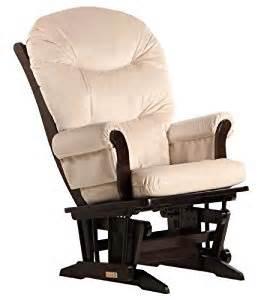 dutailier round back cushion sleigh glider beige microfiber