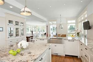 white galaxy granite kitchen traditional with granite With kitchen colors with white cabinets with city of chicago window sticker