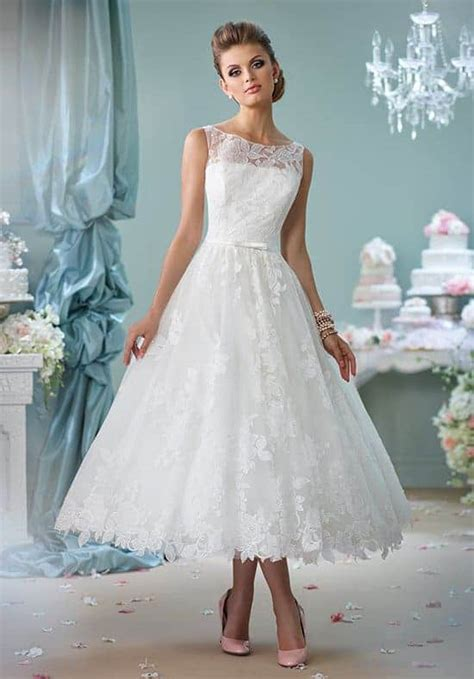 10 Stunning Tea Length Wedding Dresses For 2021 - The ...