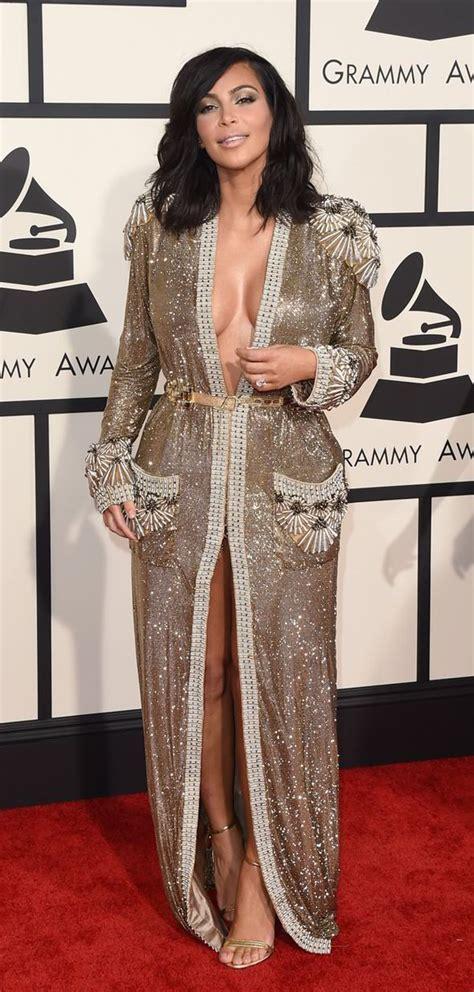 Get Kim Kardashian's gorgeous Grammy's long wavy bob