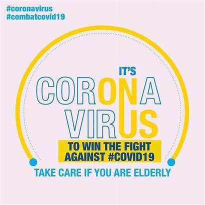 Elderly Message Covid Safe Messages Protect Coronavirus