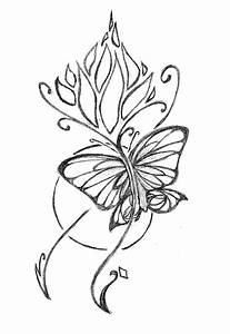 Butterfly Flower Tattoo Drawing | www.imgkid.com - The ...