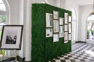 Wedding Reception Seating Chart Artificial Deluxe Boxwood Hedge Panel Wedding Picture
