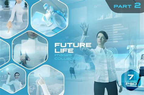 future life layered psd pack  graphic objects