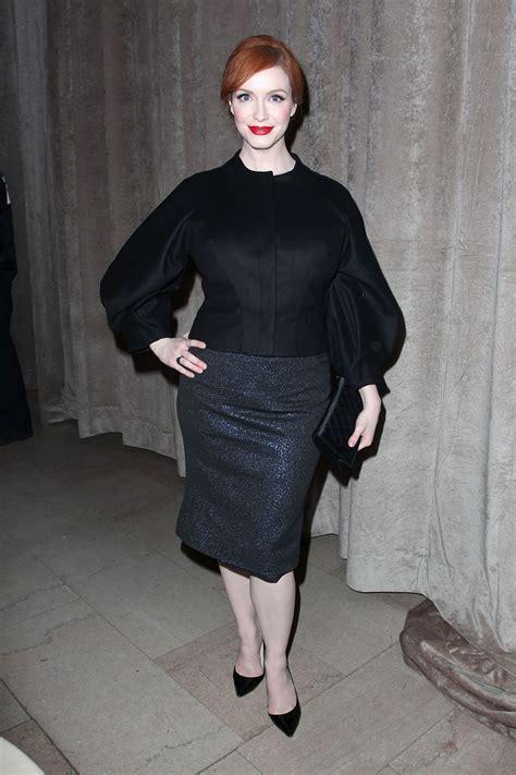 Christina Hendricks - Zac Posen Fashion Show in New York ...
