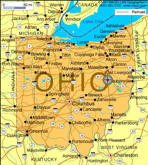 map  ohio     state  march
