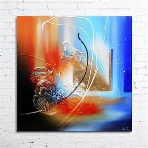 Tableau En Relief : cajam tableau abstrait peinture en relief avec feuille d ~ Melissatoandfro.com Idées de Décoration