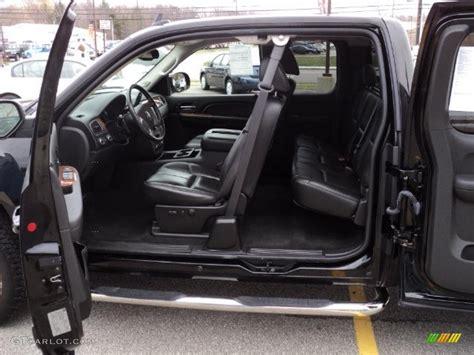 ebony black interior  gmc sierra  slt extended cab