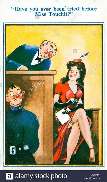 Saucy Postcard Seaside Postcards 1930s Before Tried