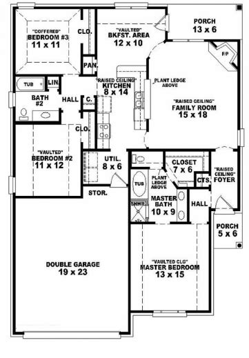 Simple House Plan With 3 Bedrooms October 2019 House