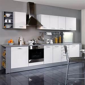 Meuble Bas Cuisine 120 Cm Avec Tiroir : meuble bas 2 portes 1 tiroir 80cm smarty blanc ~ Teatrodelosmanantiales.com Idées de Décoration