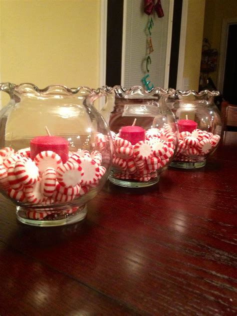peppermints  small fish bowls  candles super cute