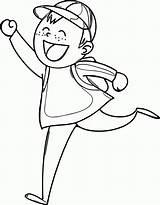 Coloring Boy Popular sketch template