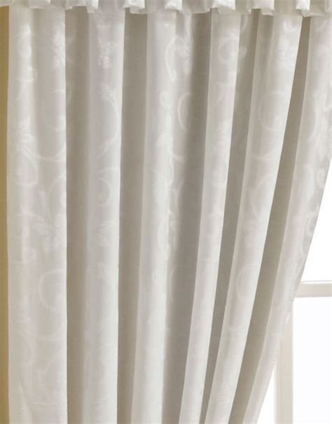 orlando cream luxury lined voile tape top curtains crushed