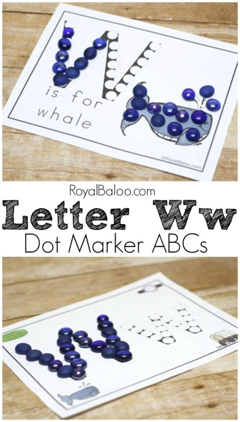 learn ww  dot marker printables royal baloo