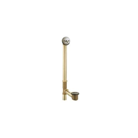 bathtub trip lever assembly kit moen tub drain brass tubing whirlpool with trip lever