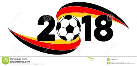 The national flag of germany features three equal horizontal bands of black (top), red, and gold. Soccer 2018 Banner With Germany Flag Stock Illustration ...