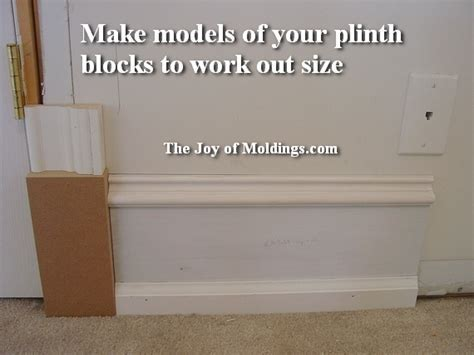 2 plinth blocks about how to   The Joy of Moldings