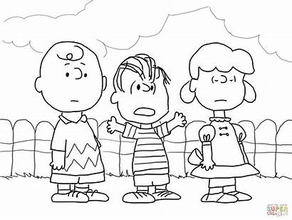 Charlie Coloring Brown Pages Linus Lucy Christmas