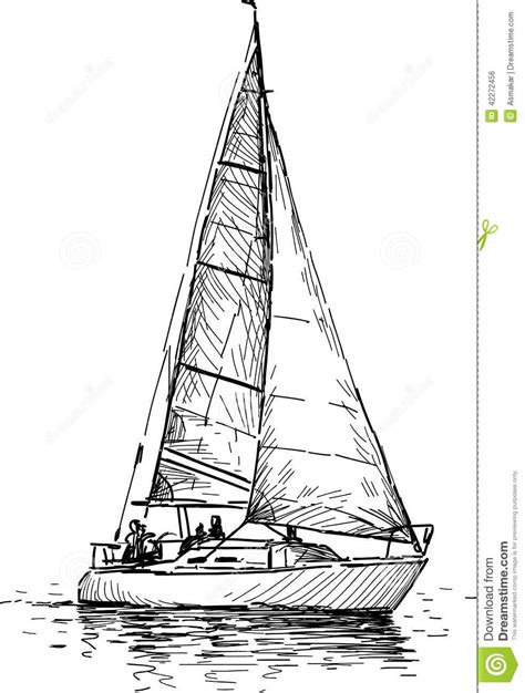 How To Draw A Boat Sailing by Sailing Boat Drawing Www Pixshark Images Galleries