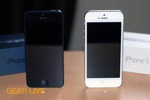 Black & White iPhone 5 side by side - iPhone 5 White vs ...