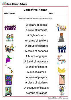 noun worksheets aussie childcare network
