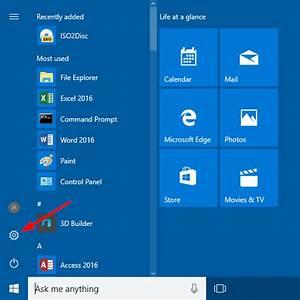 Open Settings In Windows 10