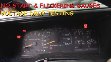 chevy truck  start flickering lights gauges