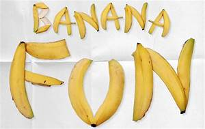 banana fun typeinspire With banana letters